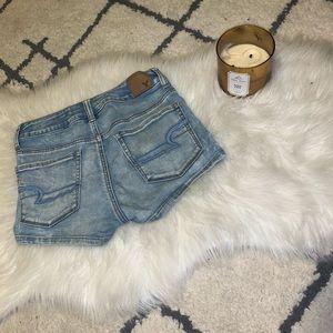 American Eagle Light-wash Jean Shorts
